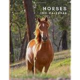 Horses 2021 Calendar: Horses 2021 Wall Calendar   January to December   One Year Photo Calendar Schedule Organizer Planner fo
