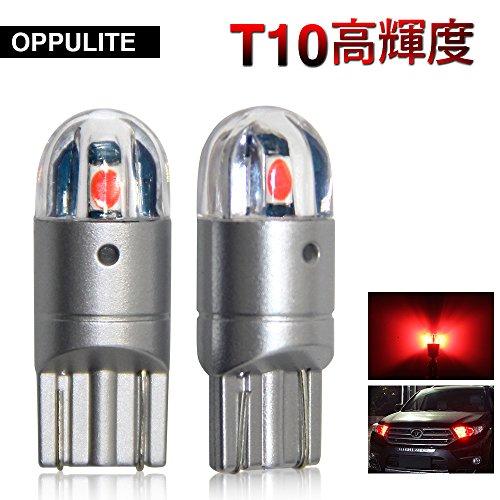 OPPULITE T10 LED ポジションランプ レッド色...