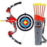 Toysery Bow and Arrow Archery Set - Comes with Attractive LED Lights Materials - Great for Indoor-Outdoor Game - Perfect for Gifting Purpose - Recommended Age 3 Years and Up