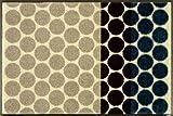 wash+dry Mixed Dots 薄型で丈夫な洗える玄関マット 50×75cm