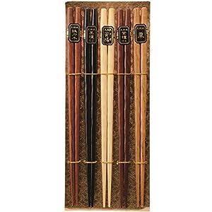 ナガオ 天然木 ひねり箸 22.5cm 5膳セット