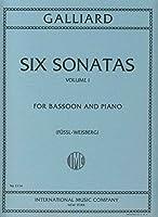 GALLIARD - Sonatas (6) Vol.1 para Fagot y Piano (Weisberg/Fussl)