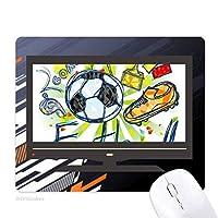 フットボールサッカー漫画シリーズのパターン ノンスリップラバーマウスパッドはコンピュータゲームのオフィス