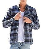 マイノリティセレクト(MinoriTY SELECT) ネルシャツ メンズ チェック ネル シャツ 長袖 赤 黒 M G柄(17)
