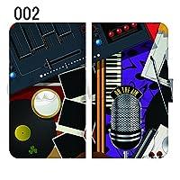 ドコモ シャープ AQUOS sense SH-01K 全機種対応スマホケース ベルトあり 手帳型ケース 手帳型カバー スライド式スマホケース 完全受注生産 楽器 ミュージック 音楽 002