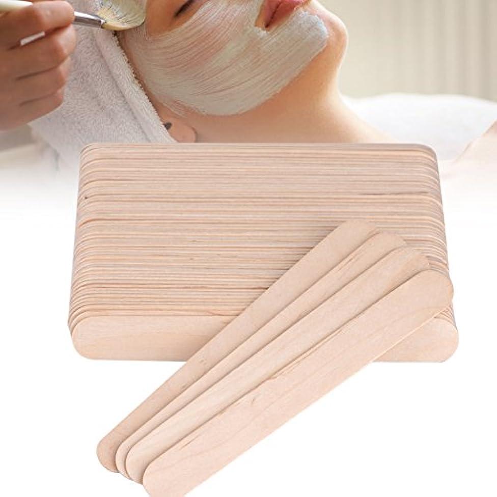 ホラー無取り付け舌圧子ワックススティックスパチュラアプリケーター木製スパチュラ使い捨て業務用木製 100PCS /バッグ