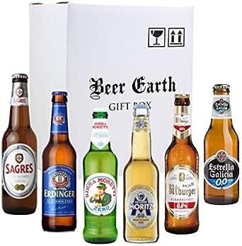 世界のノンアルコールビール6本 飲み比べギフトセット 【ビットブルガードライブ、サグレスゼロ、エルディンガー、エストレーリャガリシア0.0 モレッティゼロ】 専用ギフトボックスでお届け