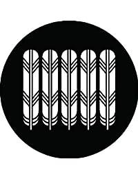 家紋シール 五本鷹の羽紋 布タイプ 直径40mm 6枚セット NS4-1166
