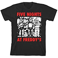 Five Nights at Freddy's Red Letters Boy's Black T-Shirt