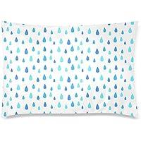 可愛い 子供 雨の背景 座布団 50cm×72cm