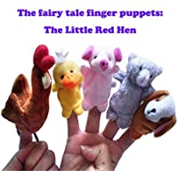 ychoice面白いFinger Puppets Toy 5 Pcs The Little Red Hen布Plush人形Baby Educational Hand Cartoon Finger Puppetsセット