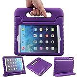 EVA素材 iPad Mini ケース, LEFON 児童 最軽量 耐衝撃 超耐久性 Apple iPadシリーズ 保護 ケース Apple iPad Mini 1/2/3, iPad Mini 4に適します (For Apple iPad Mini 1/2/3, パープル)