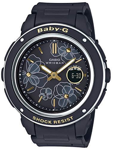 [カシオ] 腕時計 ベビージー Floral Dial Series BGA-150FL-1AJF レディース ブラック
