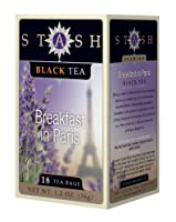 Stash Tea Company, Premium, Black Tea, Breakfast in Paris, 18 Tea Bags, 1.2 oz (36 g) by Stash Tea