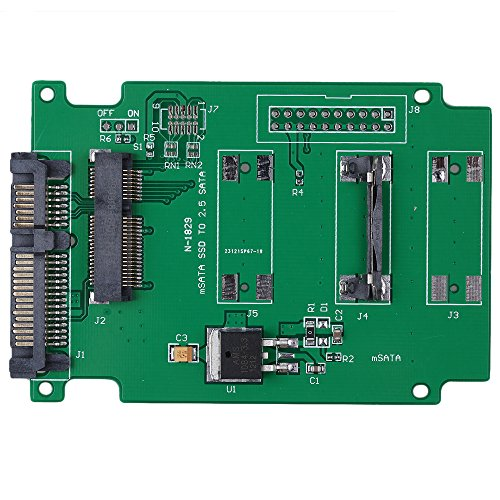 "mSATA SSD to 2.5"" SATAハードドライブアダプタポートコンバータカードアダプタと互換性、ないミニPCI - E SATA SSD ( US Seller )"