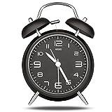 【大音量】ADDED(アデッド) アナログ目覚まし時計 大音量 止めるまでずっとアラームが鳴るので朝が苦手な人に GHUY-BK
