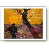 フィンセント ファン ゴッホ(Vincent Van Gogh) 夕陽と種蒔く人 1888年 アートポスター