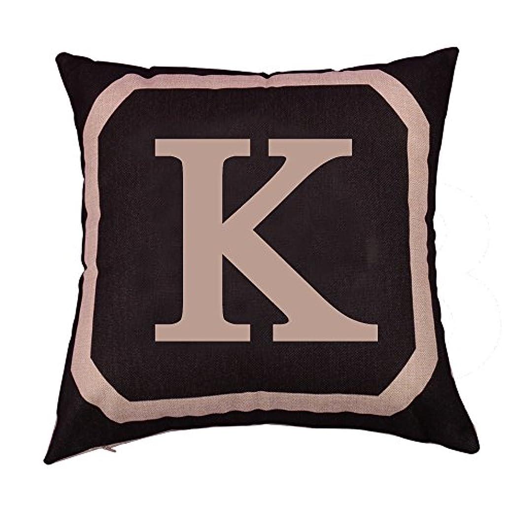 結紮数字実際にコットンリネンスクエア枕カバーダブル枕ソファカバー家具K