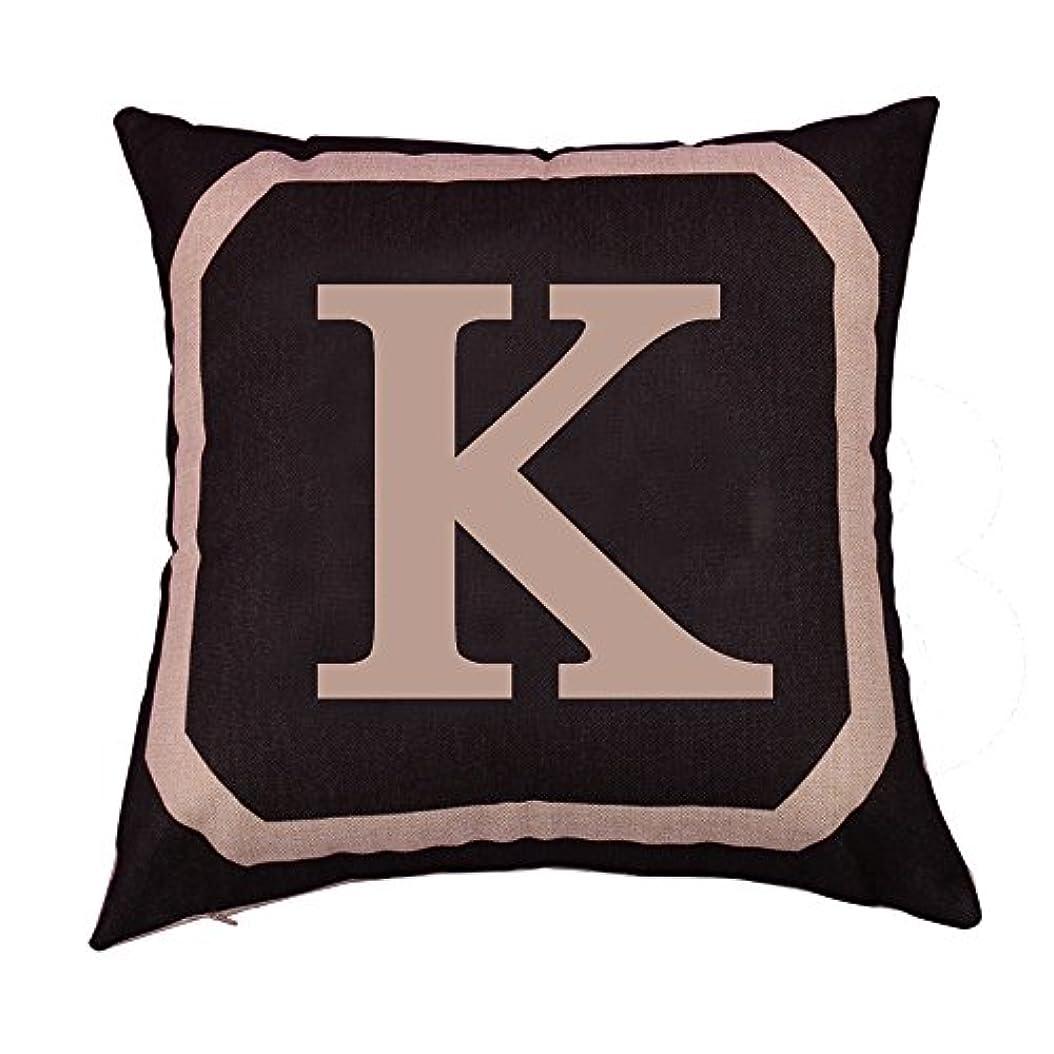 栄光用心深い安定したコットンリネンスクエア枕カバーダブル枕ソファカバー家具K