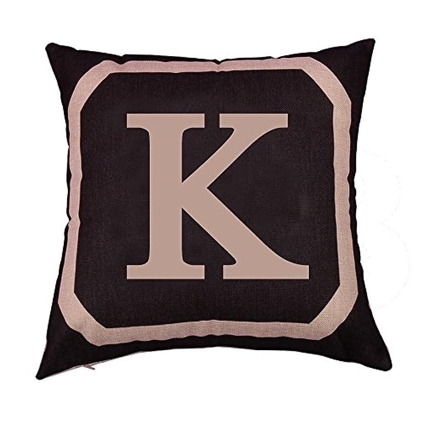機密形容詞受粉するコットンリネンスクエア枕カバーダブル枕ソファカバー家具K