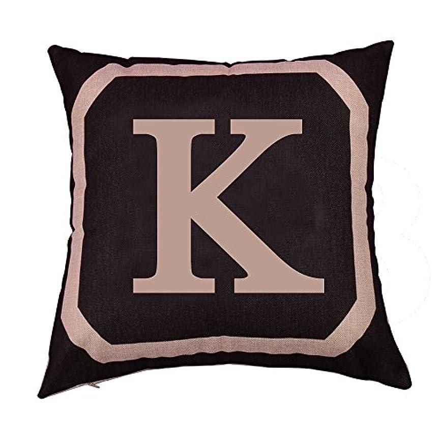 高い注ぎます反対にコットンリネンスクエア枕カバーダブル枕ソファカバー家具K