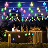 BlueFire Globe Fairy Light Battery Powered 22.9FT 50 LED Ball String Lights with Remote Control for Holiday Christmas New Year Wedding Party Gardens Lawns Patios Indoor & Outdoor Decoration (Multicolor)