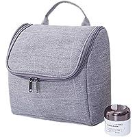 洗濯バッグカチオンフックポータブルアウトトラベルコスメティックバッグ (色 : ライトグレー)