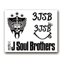 絵柄だけ残る ステッカー 「3JSB」 ブラック