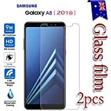 [2-Pack] Samsung Galaxy A8 2018 Tempered Glass LCD Screen Protector Film Guard