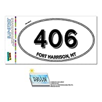 406 - 砦ハリソン, MT - モンタナ - 楕円形市外局番ステッカー