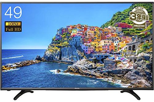 ハイセンス 49V型 液晶 テレビ HJ49K3120 フルハイビジョン 外付けHDD録画対応 裏番組録画 メーカー3年保証
