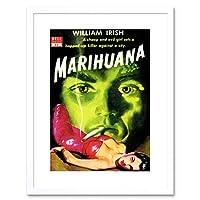 Book Cover Pulp Fiction Marijuana Irish Murder Killer Evil Framed Wall Art Print 本カバーフィクションアイルランド語壁