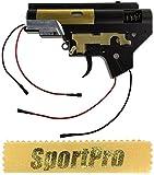 DBOYS製 BI15F 電動ハンドガン M4 M16用 メカボックスセット メタル製 - ブラック 【SportPro クリーニングクロス付】