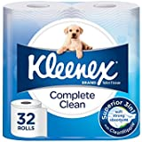 Kleenex Complete Clean Toilet Paper, Bath Toilet Tissue (Pack of 32)