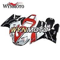 WYNMOTO ABS インジェクション外装パーツセット適応ヤマハ r1 YZF-r1 1998 1999 年ホワイトレッドブラックボディキット