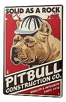 Tin Sign Breed Pitbull