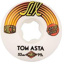 Ricta white-red-yellow Slix Tom Asta Santa Cruz 99A–52mmスケートボードホイール(デフォルト、ホワイト