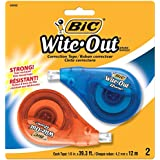 BIC Wite Out Ez Correction Tapes - 12 m x 4.2 mm, Pack of 2