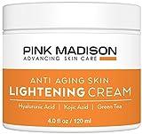 (海外直送品)Pink Madison(R) ホワイトニング クリーム -- anti-agigの軽量クリーム - ヒアルロン酸、コウジ酸、緑茶 最高級品 自然由来成分 夜用保湿クリーム。4 オンス