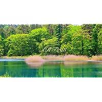 風景写真ポスター 福島 裏磐梯五色沼 瑠璃沼 自然の美しさを最高級の素材とこだわりのプリントで再現しました。 (サイズ 59.4×35.0cm余白あり)