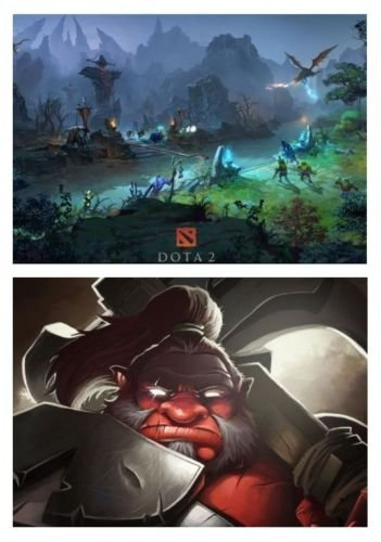 Set of 2 DOTA 2 Posters by DOTA [並行輸入品]