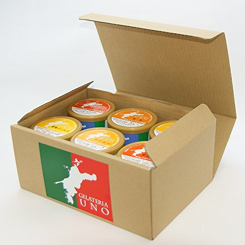 ジェラート専門店ジェラテリアUNO 愛媛産高級柑橘ジェラート アイスクリーム 12個Bセット のし メッセージカード対応