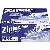 【大容量】ジップロック フリーザーバッグ Mサイズ 90枚入 ジッパー付き保存袋 冷凍・解凍用 (縦18.9cm×横17.7cm)