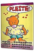カレンダー Perpetual Calendar Fun FeliX bankrupt Bear Tin Metal Magnetic