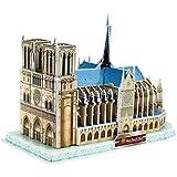 3D 立体紙パズル子供のための教育玩具、子供の男の子 DIY 建設模型玩具記念ギフト (ノートルダム?ド?パリ)