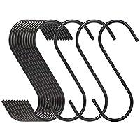Lainrrew 24個パック 高耐久Sフック S字型ハンギングフック 多機能スチールハンガーフック キッチン 浴室 オフィス 庭用