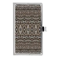 茶色のアステカ語種族のパターンステンレス鋼ポケットのビジネス名のクレジットカードケースボックス財布