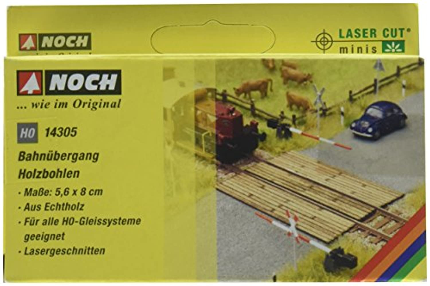 Noch 14305 Wooden Plank Crossing H0 Scale Model Kit