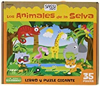 Los animales de la selva (Libro puzzle gigante)