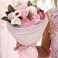 ソープフラワー Minbau 枯れない 花 ギフト 花束 ボックス バラ 石鹸 フラワー お祝い 誕生日 記念日 女性 先生の日 バレンタインデー 昇進など プレゼント (ピンク)